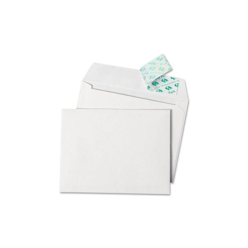 Quality Park Products Invitation Envelopes with Grip-Seal, 4-3/8x5-3/4, White, 100/box