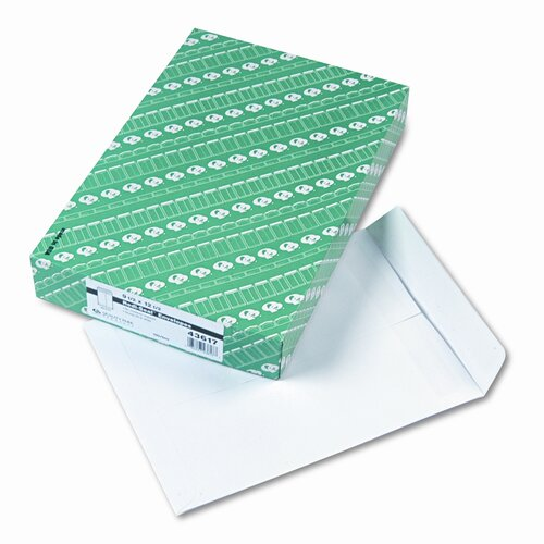 Columbian Envelope Grip-Seal Catalog Envelopes, 9-1/2x12-1/2, 28lb, White Wove, 100/box