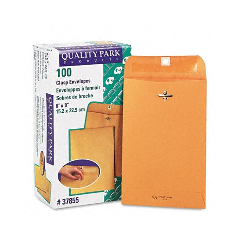 Quality Park Products Clasp Envelope, 6 X 9, 100/Box