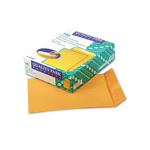 Quality Park Products Catalog Envelope, 9 x 12, Light Brown, 100/box