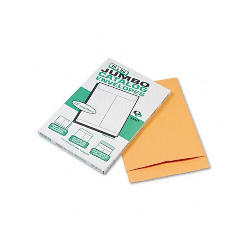 Quality Park Products Jumbo Size Kraft Envelope, 15 x 20, Light Brown, 25/box