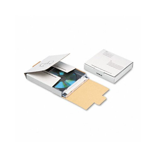 Quality Park Products Corrugated CD/DVD Mailer, 5 3/4 x 5 3/4, White, Recycled