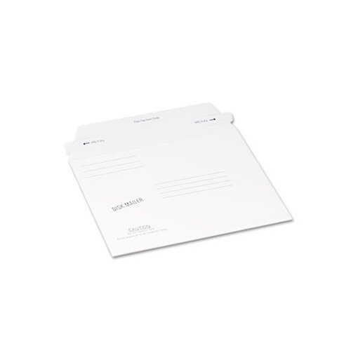 Quality Park Products Redi-Strip Economy Disk Mailer, 7 1/2 x 6 1/16, White, Recycled, 100/carton