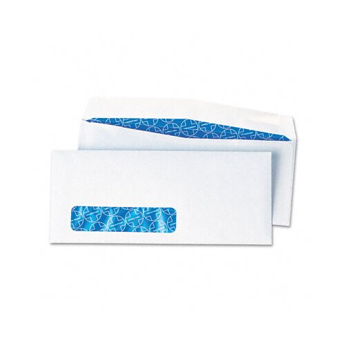 Quality Park Products Tinted Antimicrobial Window Envelope, Contemporary, #10, White, 100/box