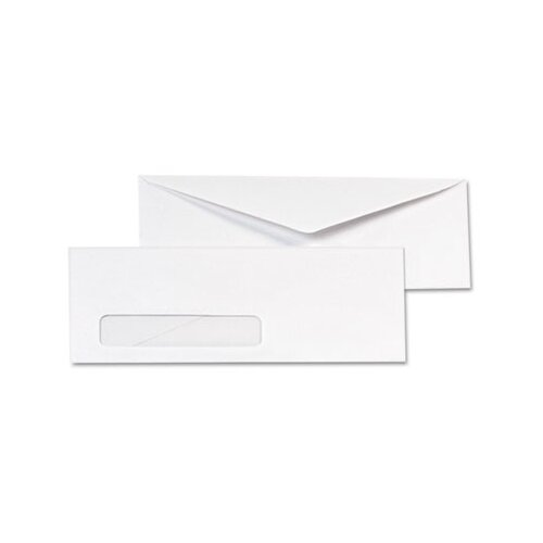 Quality Park Products Business Window Envelope, Contemporary, #10, White, 500/box