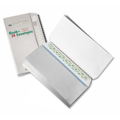 "Quality Park Products Envelopes, Book Of Envelopes,No 10(4-1/8""x9-1/2"")36 per Pack, White"
