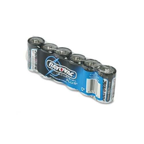Rayovac® Industrial PLUS Alkaline Batteries, C, 6/Pack