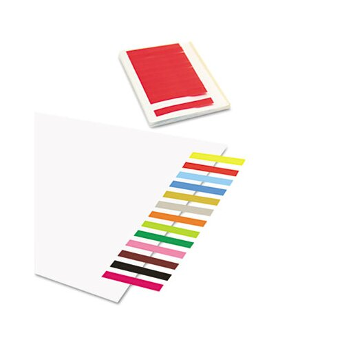 Redi-Tag Corporation Removable/Reusable Page Flags, 13 Assorted Colors, 300 Flags per Pack