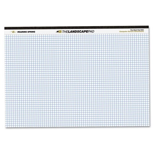 Roaring Spring Paper Products Landscape Format Writing Pad, 40 Sheets/Pad