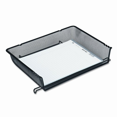Rolodex Corporation Nestable Mesh Stacking Side Load Letter Tray, Wire, Black