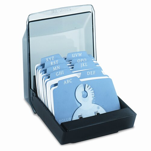 Rolodex Corporation Petite Covered Tray Card File Holds