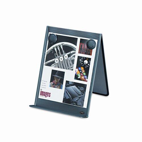Rolodex Corporation Nestable Wire Mesh Freestanding Desktop Copyholder, Stainless Steel, Black