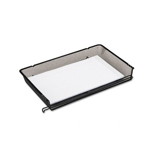 Rolodex Corporation Nestable Mesh Stacking Side Load Legal Tray, Wire, Black