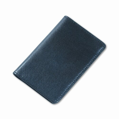 Samsill Corporation Regal Leather Business Card Wallet Holds 25 2 x 3-1/2 Cards, Black