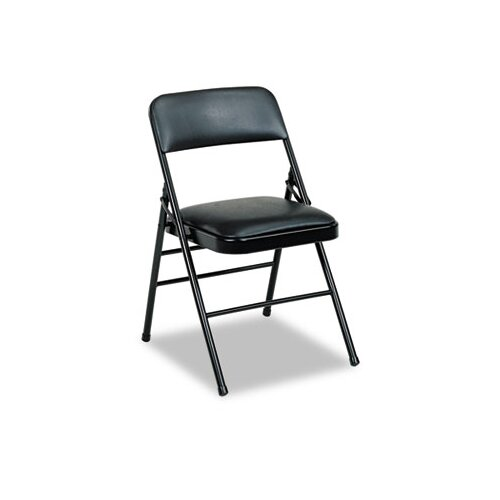 Cosco Deluxe Vinyl Padded Series Low-Back Folding Office Chairs