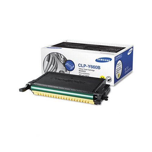 Samsung CLPY660B High-Yield Toner, 5000 Page-Yield