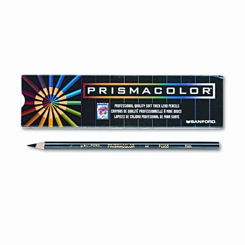 Sanford Ink Corporation Premier Colored Pencil, Black Lead/Barrel, Dozen