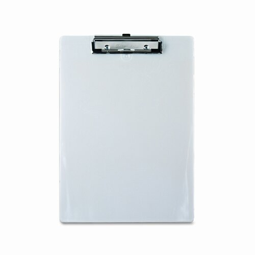 "Saunders Manufacturing Plastic Clipboard, 1/2"" Capacity, Holds 8-1/2W X 12H"