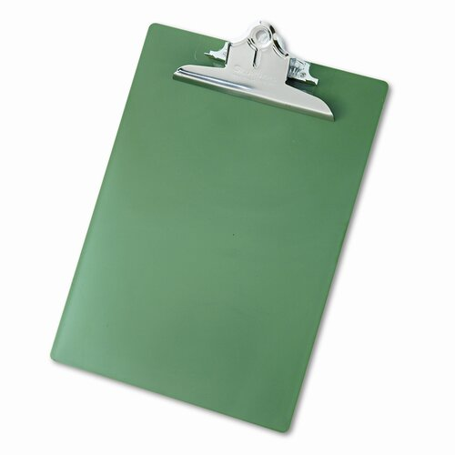 "Saunders Manufacturing Plastic Antimicrobial Clipboard, 1"" Capacity, Holds 8-1/2W X 12H"