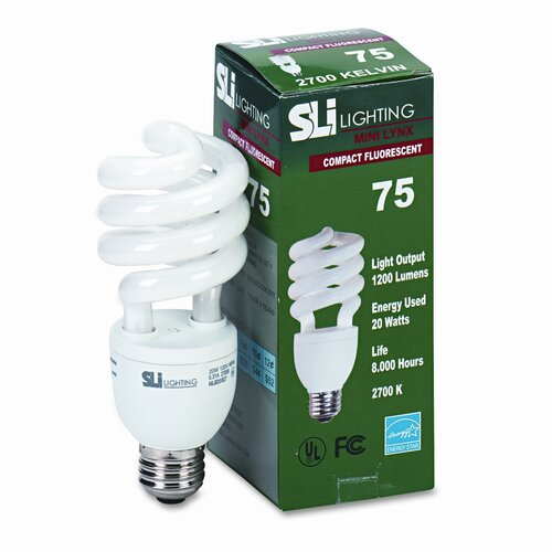 SLI Lighting 20W 120-Volt Fluorescent Light Bulb