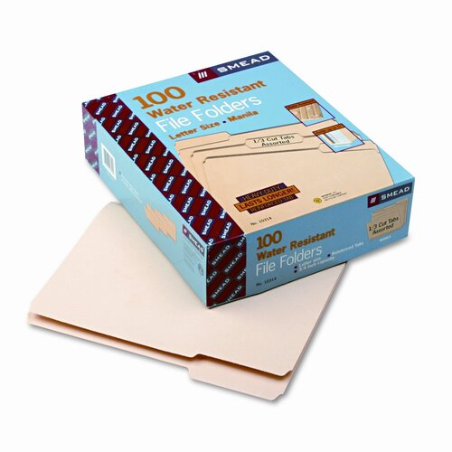 Smead Manufacturing Company Watershed File Folders, 100/Box