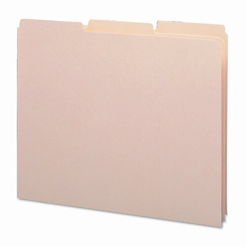 Smead Manufacturing Company 18 Point Recycled Tab File Guides, 1/3 Tab, 100/Box