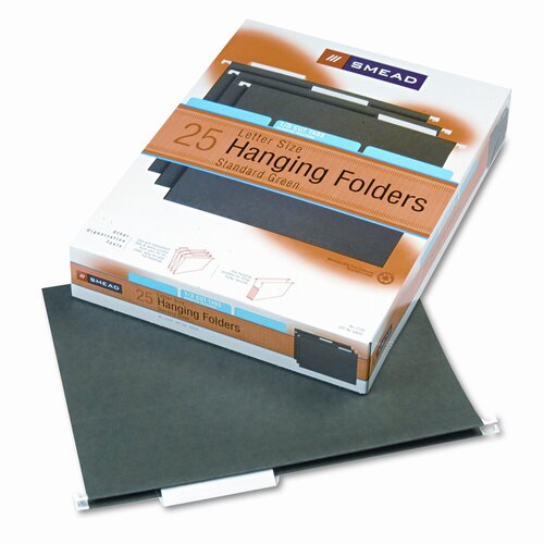 Smead Manufacturing Company 11 Point Stock Hanging Folders, 1/3 Tab, 25/Box