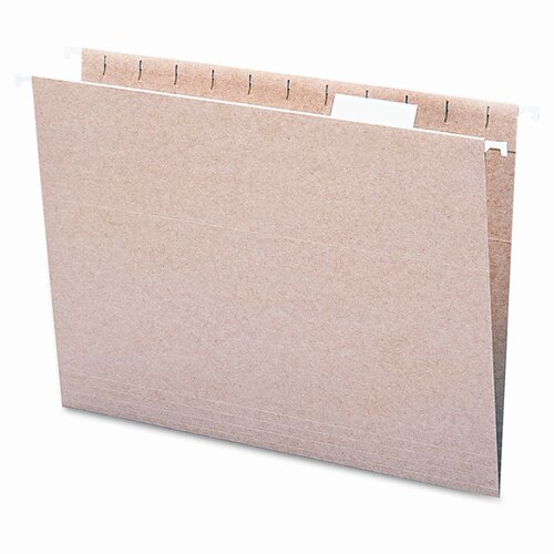 Smead Manufacturing Company 11 Point Stock Recycled Hanging File Folders, 1/5 Tab, 25/Box