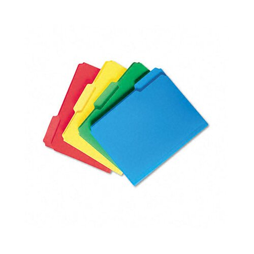 Smead Manufacturing Company Waterproof Poly File Folders, 1/3 Cut Top Tab, 24/Box