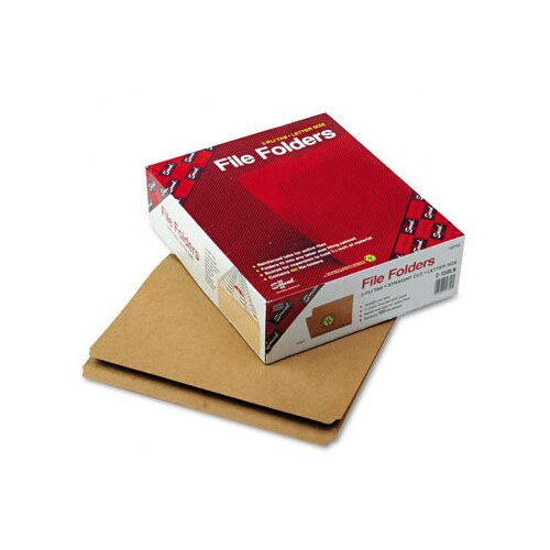 Smead Manufacturing Company Straight Cut Reinforced Top Tab File Folders, Letter, 100/Box