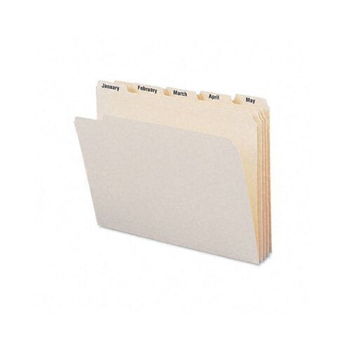 Smead Manufacturing Company Indexed Jan-Dec File Folders, 12/Set