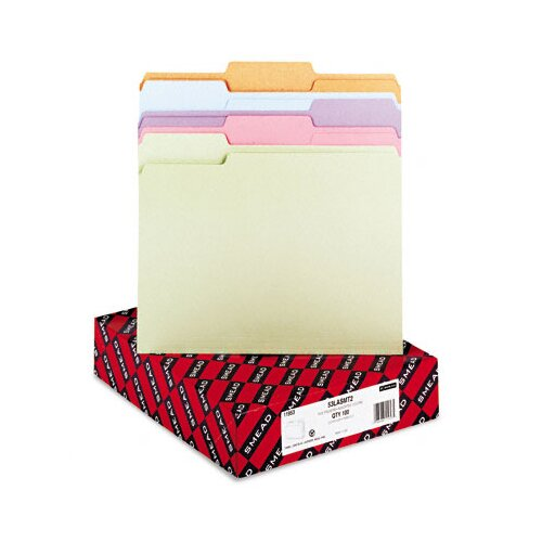 Smead Manufacturing Company 1/3 Cut Top Tab File Folders, Letter, 100/Box
