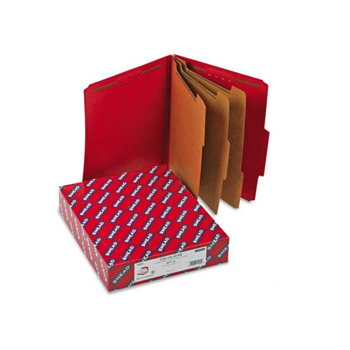 "Smead Manufacturing Company 3"" Expansion Folders with 2/5 Cut Tab, Letter, 10/Box"