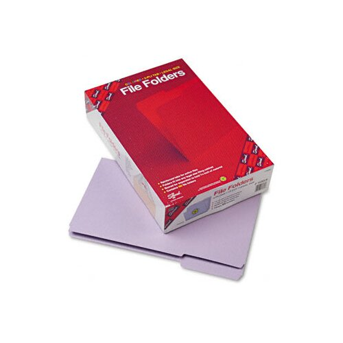 Smead Manufacturing Company 1/3 Cut File Folders, Reinforced Top Tab, Legal, 100/Box