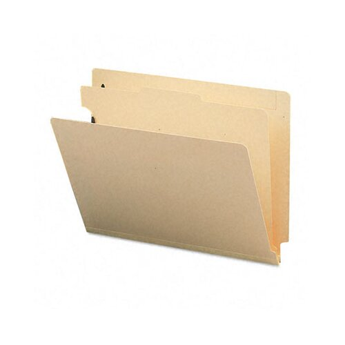 Smead Manufacturing Company Manila End Tab Classification Folders, Letter, 4-Section, 10/box