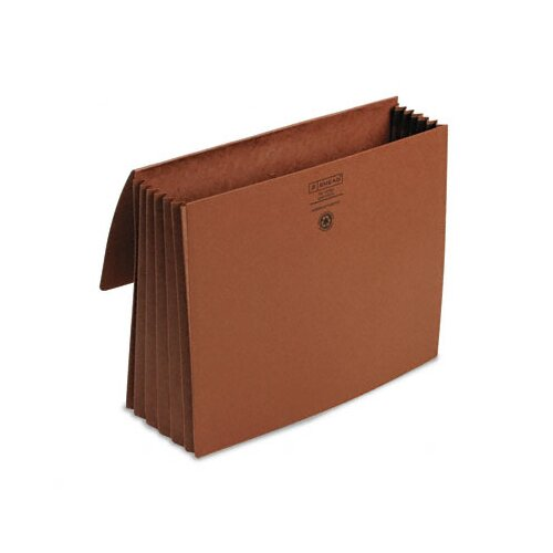 "Smead Manufacturing Company 5 1/5 in Expansion Wallets, Redrope, Letter - 8.5"" x 11"" - 5.25"" Expansion"
