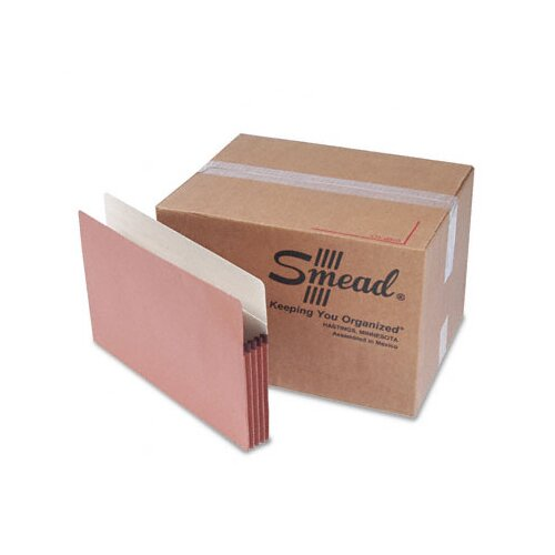 "Smead Manufacturing Company Straight Tab 3 1/2"" Accordion Expansion File Pocket, 50/Bx"