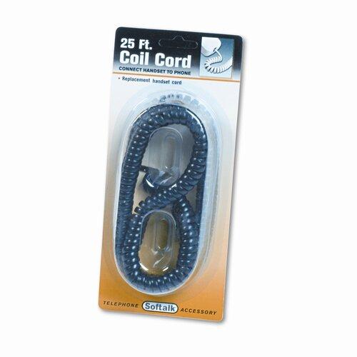 Softalk, LLC Coiled Phone Cord, Plug/Plug, 25 Ft.