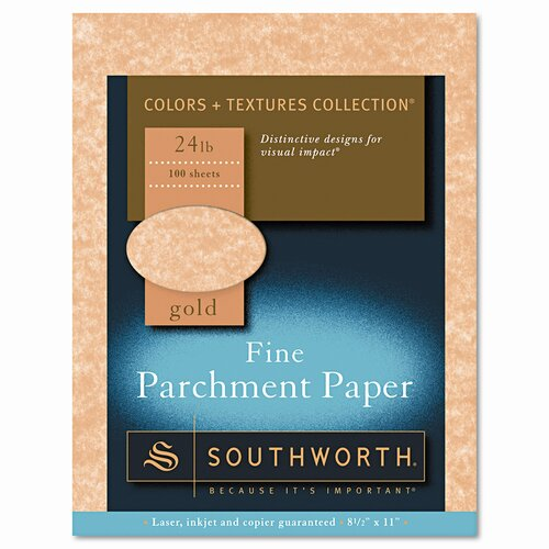 Southworth Company Parchment Specialty Paper, 24 Lbs., 8-1/2 X 11, 100/Box