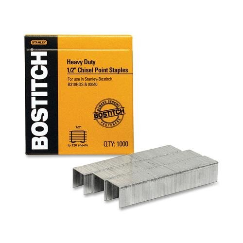 Stanley Bostitch Heavy-Duty Staples, 1,000/Box
