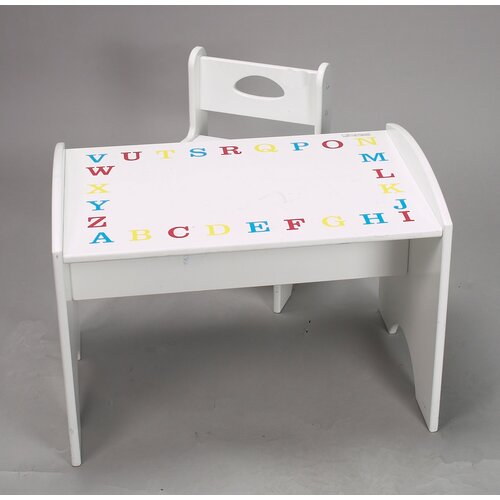 Gift Mark ABC Study Kids' 2 Piece Table and Chair Set
