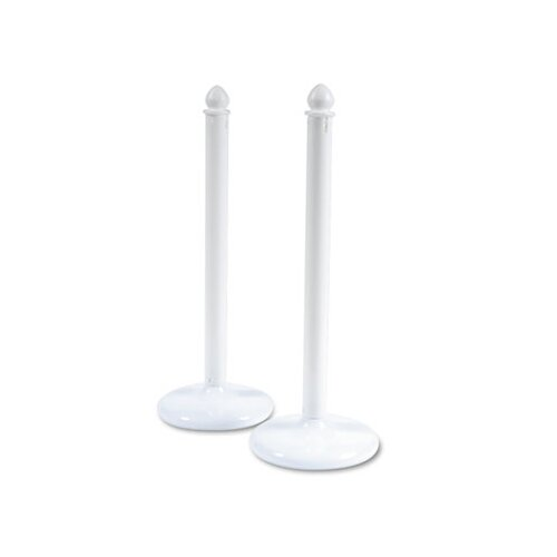 Tatco Crowd Control Stanchions, Plastic, 14 x 39, White, Six per Box