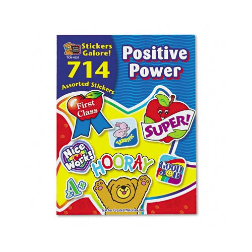 Teacher Created Resources Sticker Book Positive Power, 714/Pack
