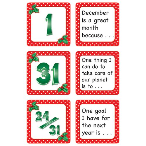 Teacher Created Resources December Polka Dots Calendar Days
