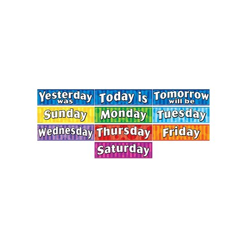 Teacher Created Resources Days Of The Week Headliners