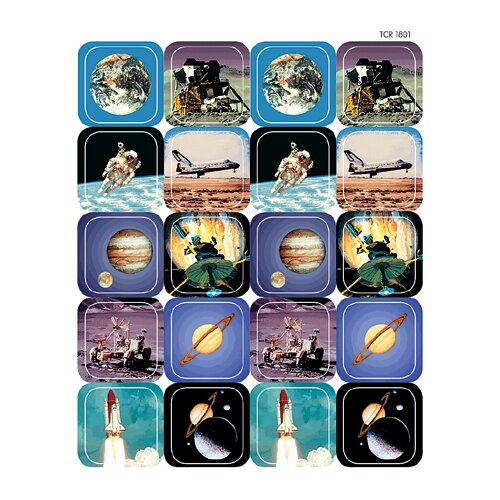 Teacher Created Resources Space Thematic Stickers