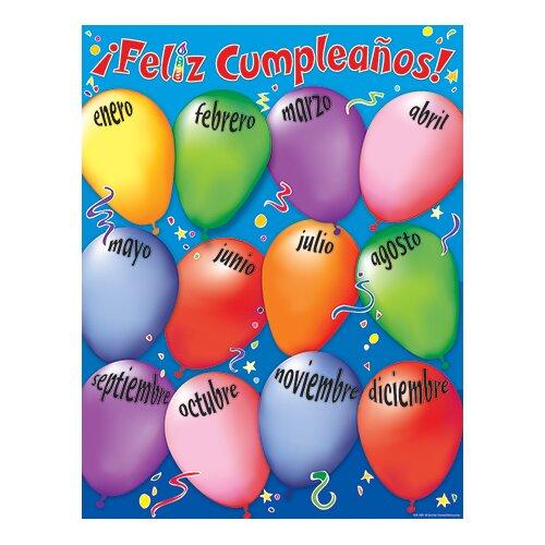 Teacher Created Resources Happy Birthday Spanish Chart