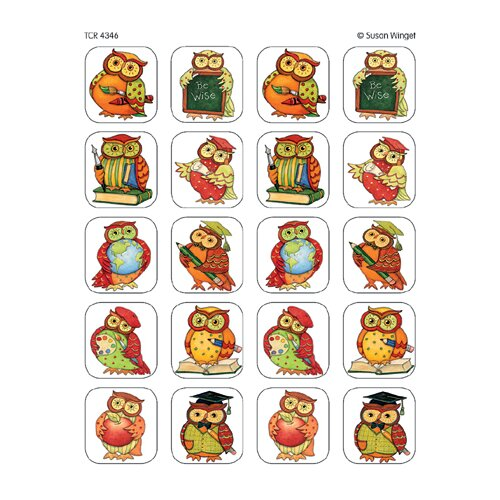Teacher Created Resources Sw Owl Stickers