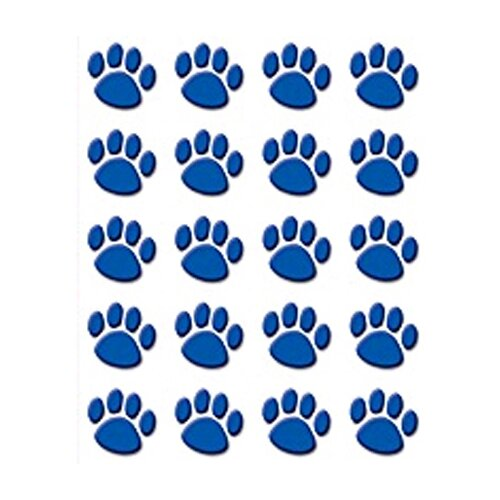 Teacher Created Resources Blue Paw Prints Stickers 120 Stks