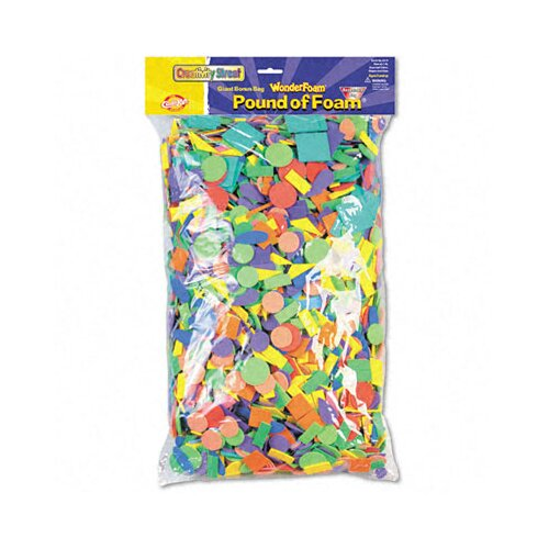 The Chenille Kraft Company Wonderfoam Shapes Classroom, 5000/Pack